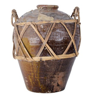 Antique Chinese Shaoxing Rice Wine Jar For Sale