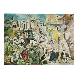 1971 Picasso L'enlèvement Des Sabines Photogravure