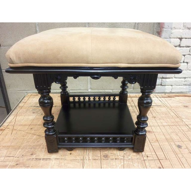 Black Lacquered Austrian Antique Stool - Image 3 of 6