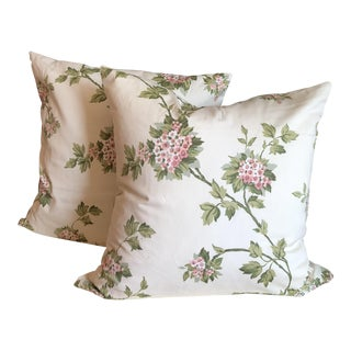 Just Beautiful Carleton Floral Print Pillows - a Pair