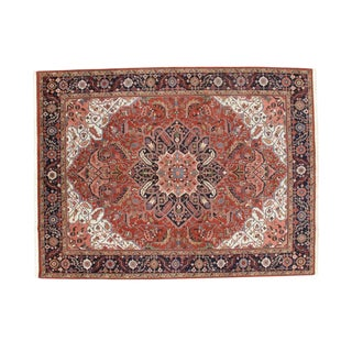 Indo Heriz Wool Area Rug - 9' X 12' For Sale