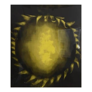 Large American Abstract Silkscreen on Paper, Ross Bleckner For Sale