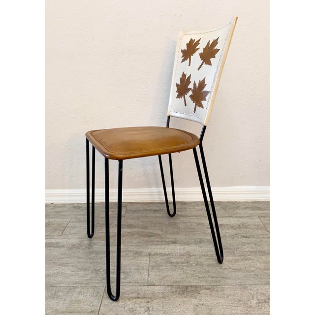 Metal Pair of Willow Dining Chairs For Sale - Image 7 of 8