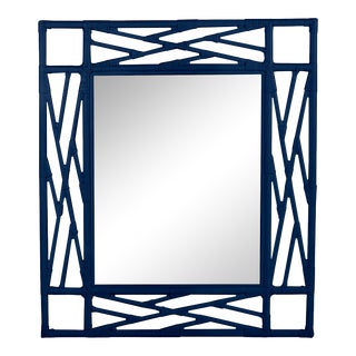 Chippendale Mirror - Navy Blue For Sale
