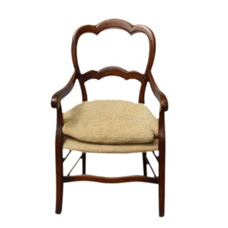 Antique French Fruitwood Arm Chairs - a Pair For Sale