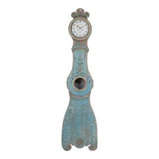 Antique Swedish Distressed Blue Mora Clock