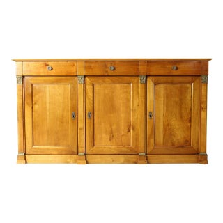 19th Century French Cherrywood Buffet Cabinet For Sale