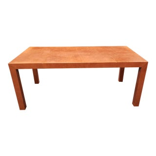 Sumptuous Orange Edelman Leather Contemporary Dining Table For Sale