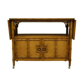 "Thomasville Furniture Brighton Pavilion Collection Asian Inspired 41"" Drop Leaf Sideboard For Sale"