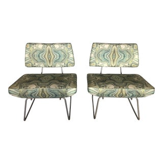 1950s Vintage Modernist Slipper Chairs- A Pair For Sale