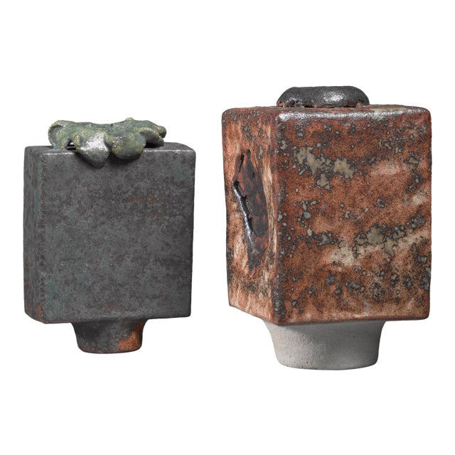 Lotte Reimers pair of ceramic vases, Germany, 1970s For Sale
