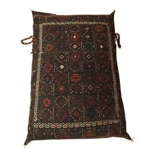 Vintage Persian Kelim Floor Pillow For Sale
