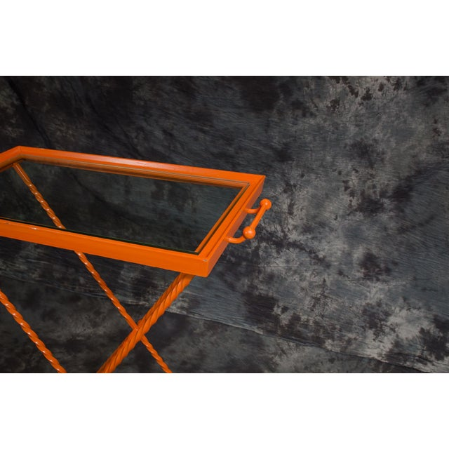 1960s Orange Butler's Tray Table For Sale - Image 4 of 9