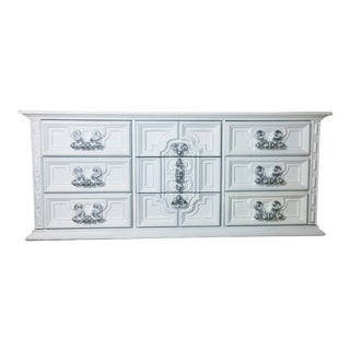 1970s Spanish Revival White Triple Dresser For Sale