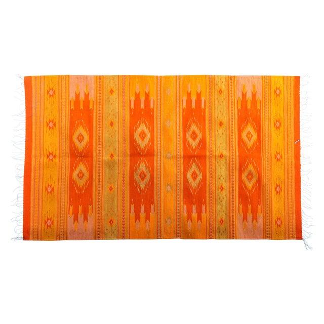 Orange & Yellow Southwestern Wool Rug - 3′6″ × 6′ - Image 1 of 4