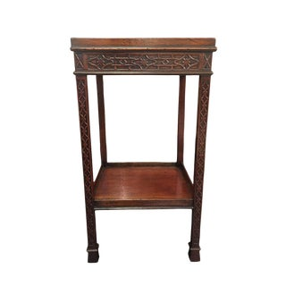 1820s Carved Mahogany Chippendale Style Side Table For Sale