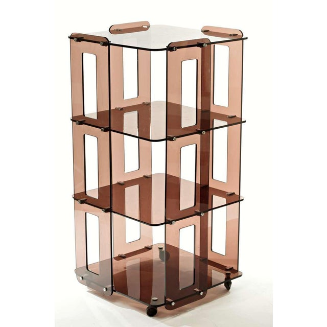 Mid-Century Modern 1970s French Lucite Bookcase in the Manner of Boris Tabacoff For Sale - Image 3 of 8