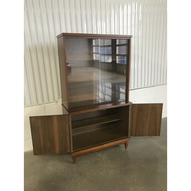 Mid-Century Walnut China Cabinet - Image 5 of 9
