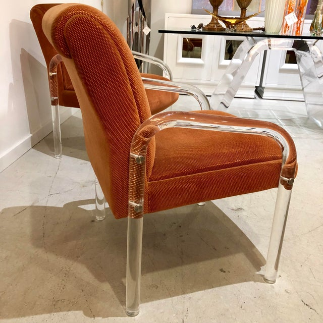 Lucite Armchairs by Lion in Frost. America, C. 1970s - a Pair For Sale - Image 9 of 13