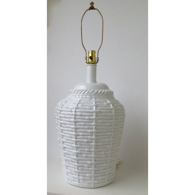 Faux Bamboo Large Bulbous Lamp - Image 10 of 10