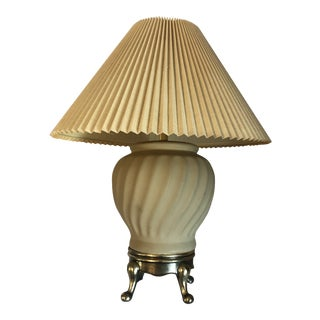 1982 Fine Art Lamps of Miami Green Ceramic Table Lamp For Sale