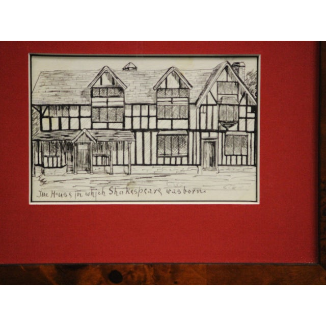Five Postcard Pen & Ink Drawings, Circa 1910 For Sale - Image 4 of 10