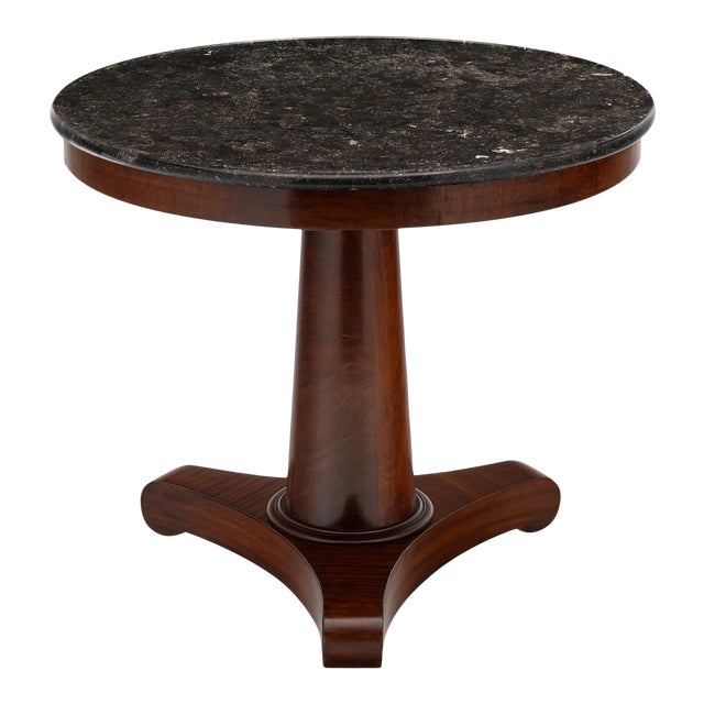 Gray Marble Topped Empire Style Gueridon For Sale