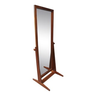 Full Length Teak Mirror by Pedersen & Hansen For Sale