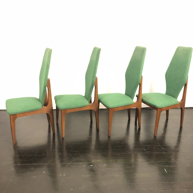 Adrian Pearsall Sculptural High Back Dining Chairs- Set of 4 For Sale - Image 4 of 10
