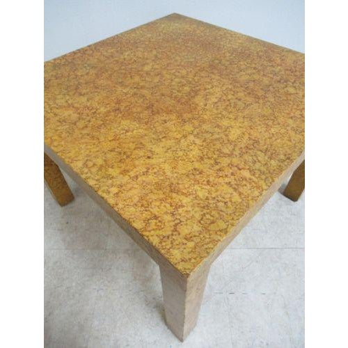 1960s Henredon Decorator Faux Painted Coffee Table For Sale - Image 5 of 10