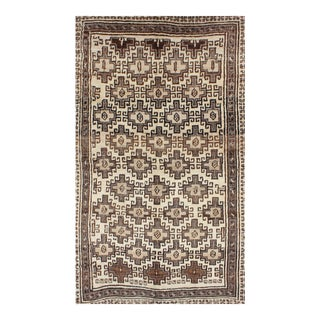 Vintage Mid-Century Persian Gabbeh Rug - 5′ × 8′5″ For Sale