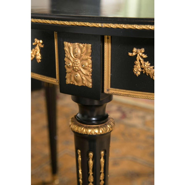 French Maison Jansen Ebonized Dining Table W. Letter of Authentication. For Sale - Image 3 of 10