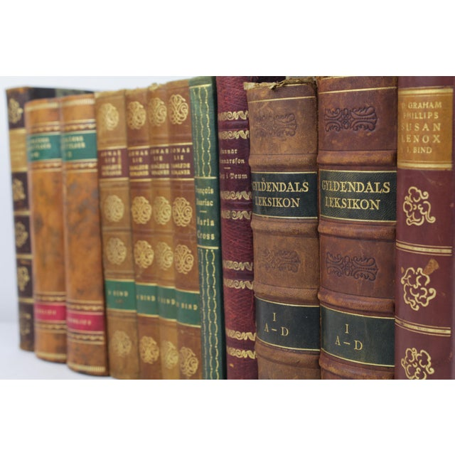 Art Deco Leather-Bound Books - Set of 12 - Image 4 of 4