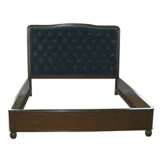Tufted California King Bed with Rose Tarlow Fabric