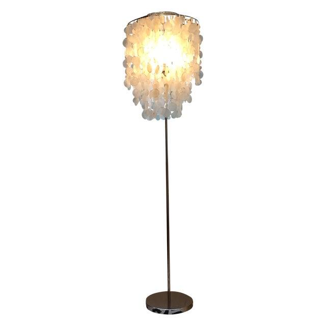 West Elm Standing Capiz Lamp - Image 1 of 5