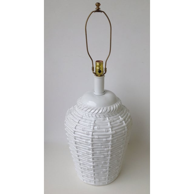 Faux Bamboo Large Bulbous Lamp - Image 7 of 10