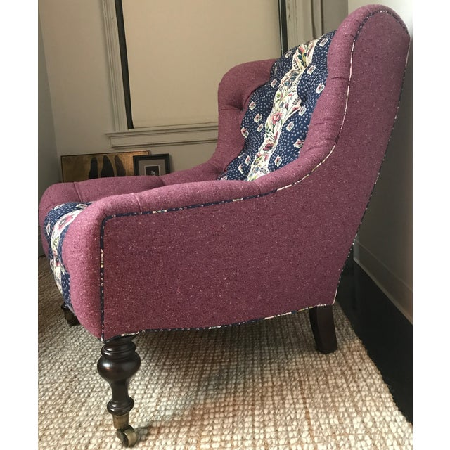 Lee Industries Tufted Upholstered Chair in Custom Tilton Fenwick Fabrics - Image 4 of 6