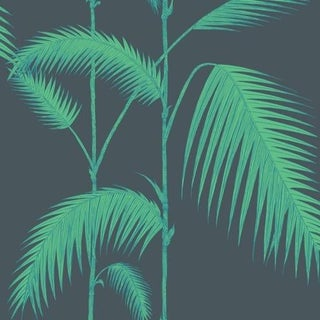 Cole & Son Palm Leaves Wallpaper Roll - Viridian For Sale