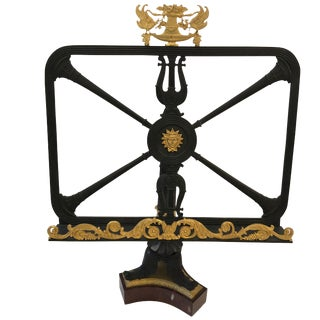 Breathtaking Bronze Dore Neoclassical Bookstand or Short Table Lectern For Sale