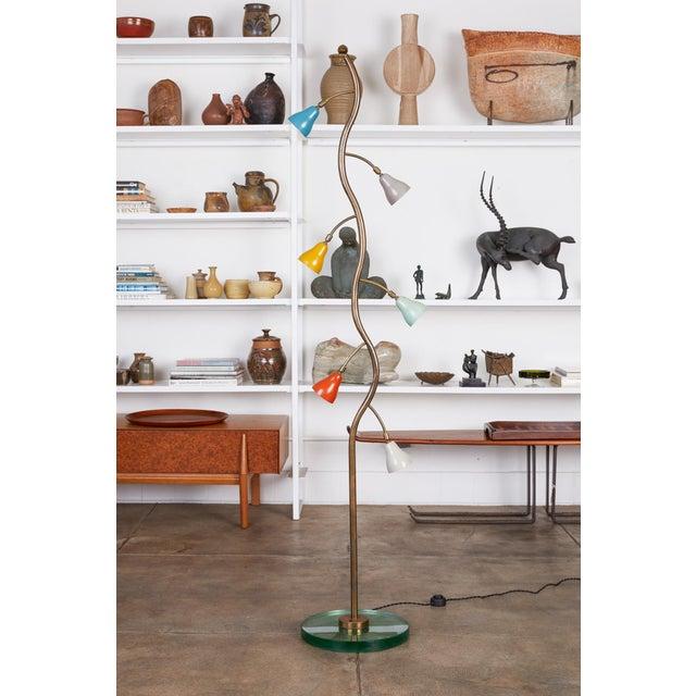 Mid-Century Modern Italian Freeform Tulip Shade Floor Lamp For Sale - Image 3 of 11