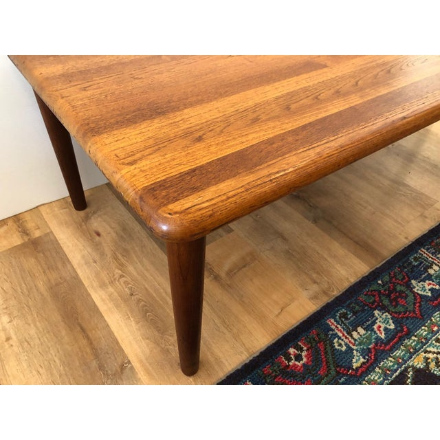 1960s MCM Danish Glostrup Mobelfabric Solid Teak Cocktail Table For Sale - Image 5 of 7
