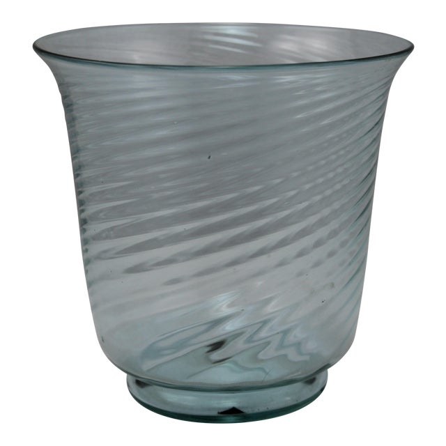 Art Deco Era Steuben Glassworks Baby Blue Translucent Swirl Bowl - Image 1 of 8