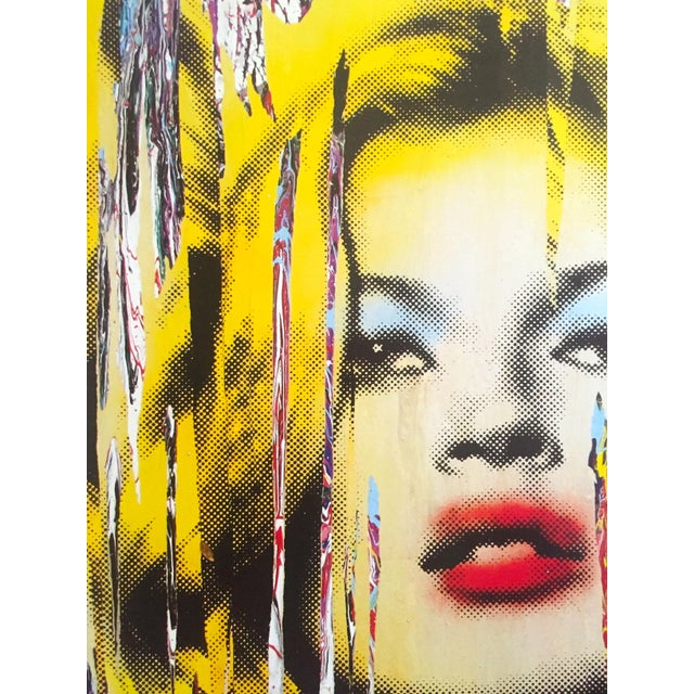 """Mr. Brainwash """" Kate Moss """" Rare Authentic Lithograph Print Pop Art Poster For Sale In Kansas City - Image 6 of 13"""