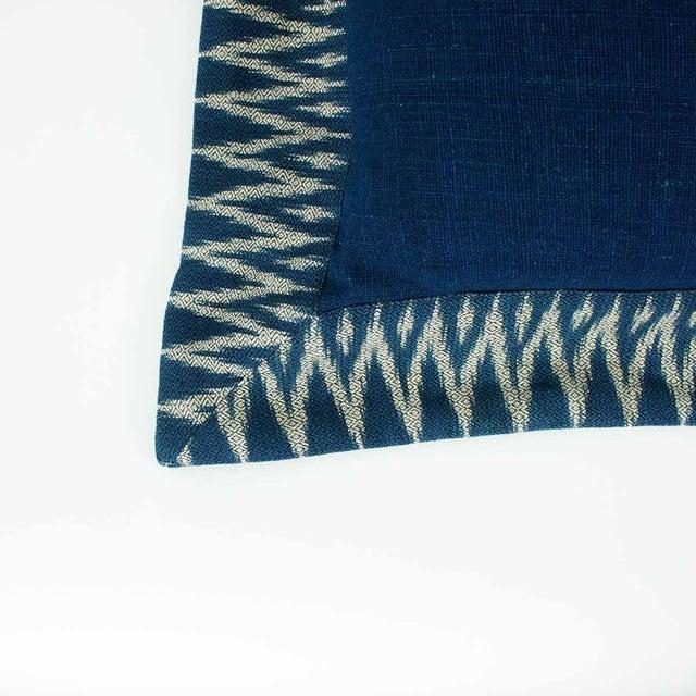 Indigo Ikat Pillow - Image 3 of 4