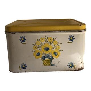 Vintage Shabby Chic Metal Storage Box