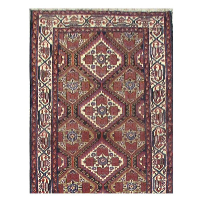Islamic Vintage Persian Malayer Rug - 3'2''x13'9'' For Sale - Image 3 of 3
