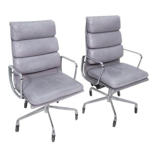 Aluminum Group Soft Pad Office Chairs by Charles Eames for Herman Miller For Sale