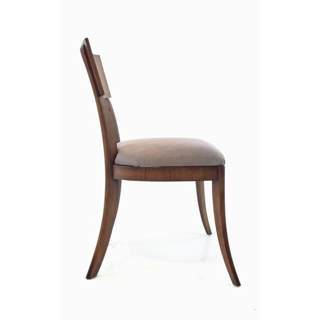2010s Modern Klismos Emerson Roswood Side Chair For Sale - Image 5 of 7