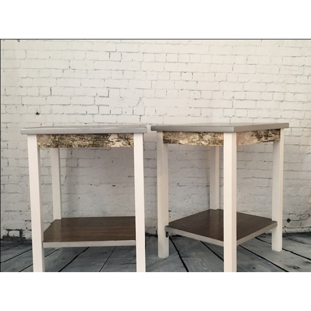 Rustic Farmhouse End Tables - a Pair - Image 2 of 5