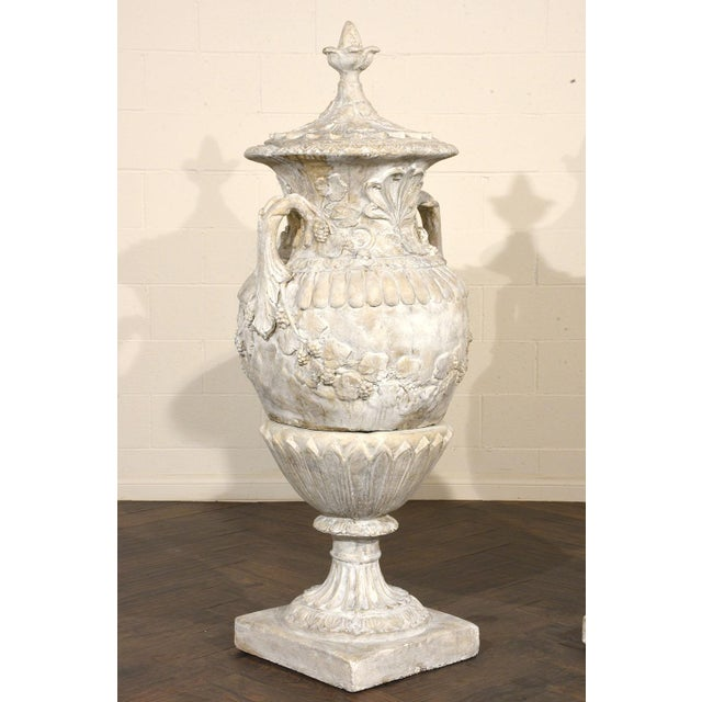 Pair of Grand Neoclassical-style Patio Urns - Image 2 of 10